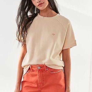 Op For Urban Outfitters Short Sleeve Fleece Top
